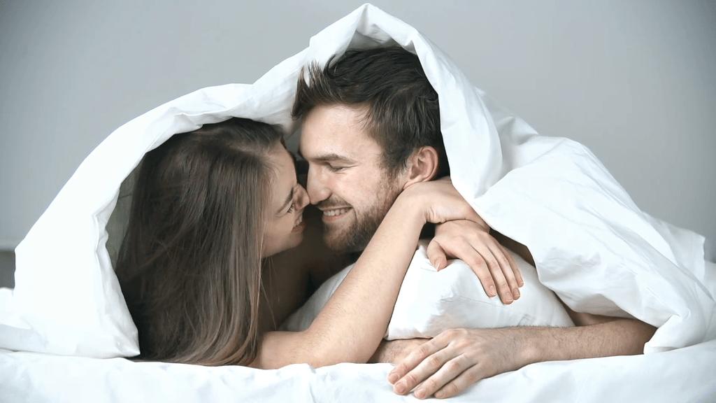 cuddling in bed