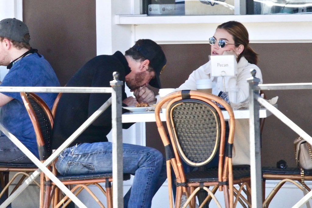 Lucy Hale and Skeet Ulrich spotted outside