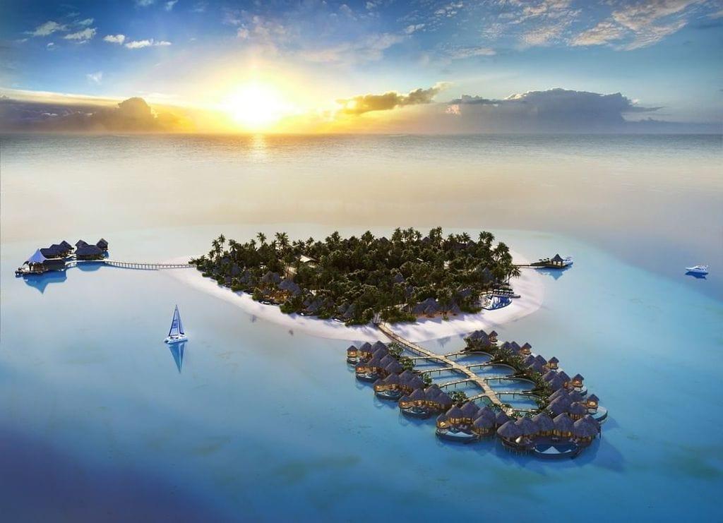 The Nautilus Maldives, bird's eye view