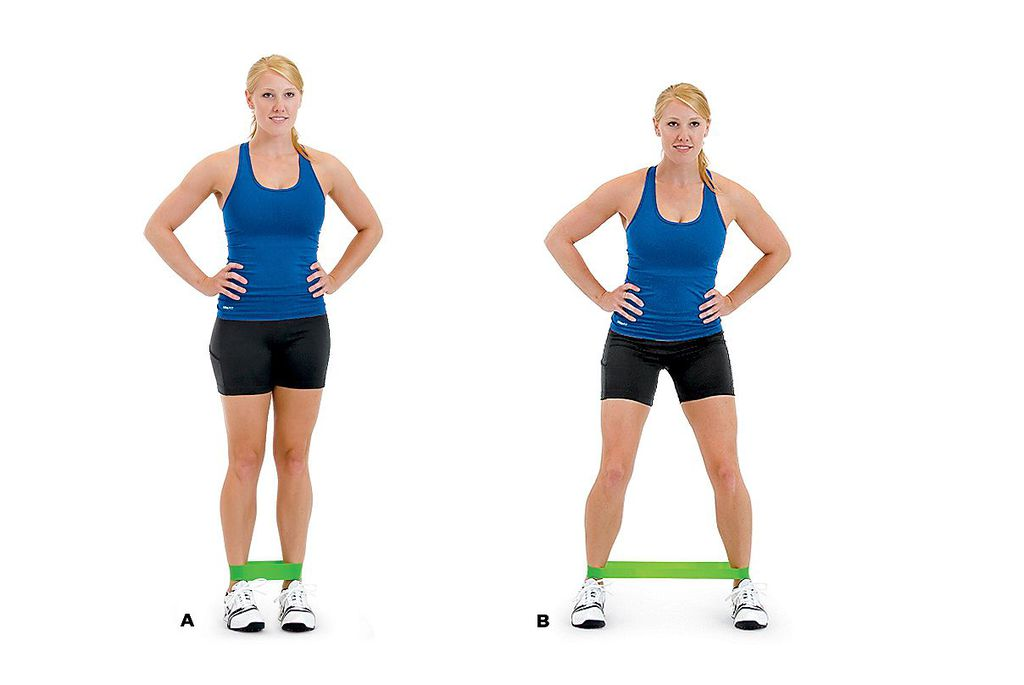 the Banded Step-Out Squat