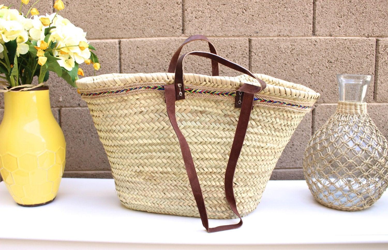 French Basket Work Bag