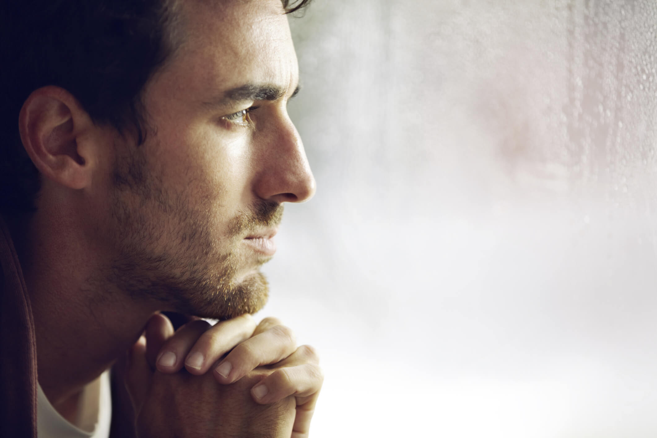 A young man looking sad